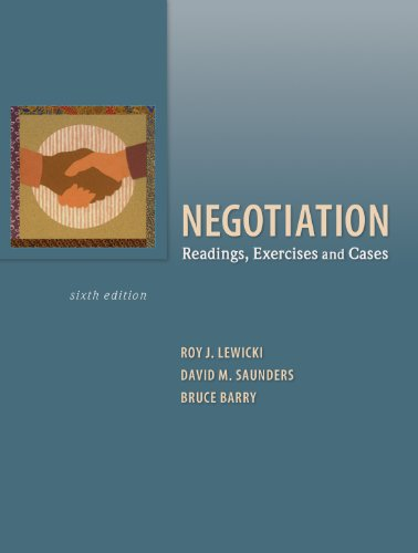 Download pdf negotiation: readings, exercises, and cases full version.