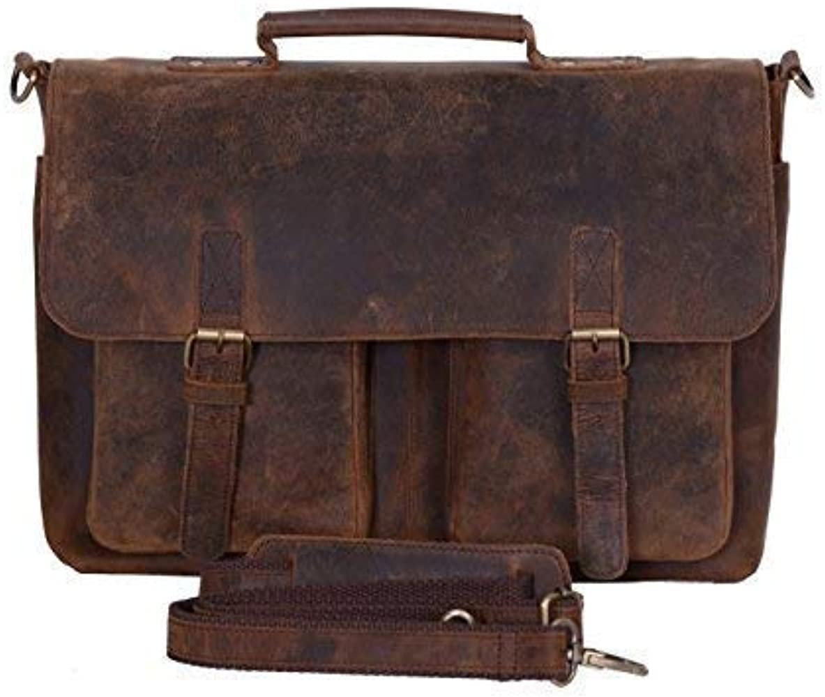 New Men/'s Leather Bag Mac PC Messenger Laptop Shoulder Briefcase Handbag Brown
