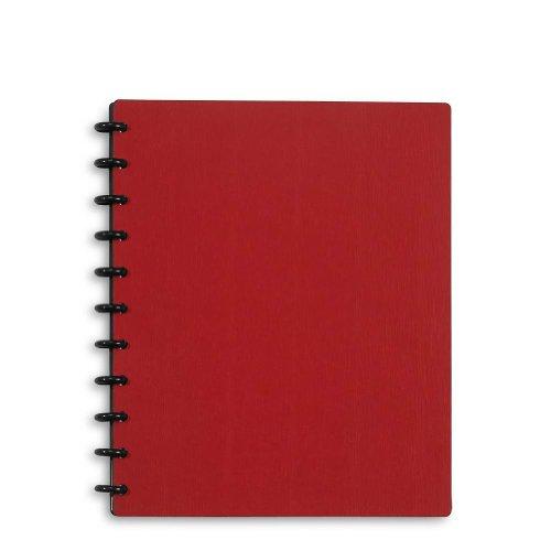 Levenger Circa Sliver Foldover Notebook, Letter - Red