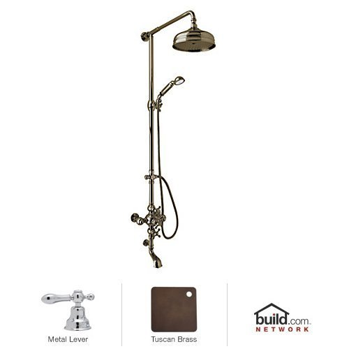 Rohl AC414L-TCB Cisal Shower System with Exposed Thermostatic Valve, Shower Head, Tuscan Brass - Brass Cisal Cisal Shower
