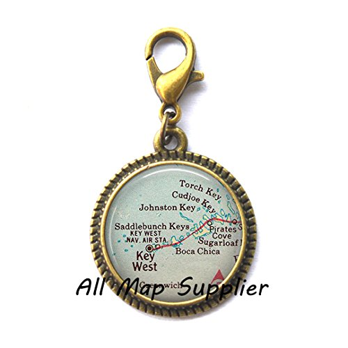 Beautiful Zipper Pull Florida Keys map Zipper Pull, Lower Keys, Key West Charming Zipper Pull, Florida Keys Charming Zipper Pull, Key West map Zipper Pull,A0058
