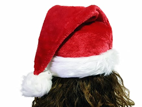 eSay Santa Hat, Christmas Hat Large For Adultand Young, Costume Party, Nice Festive Holiday, Red