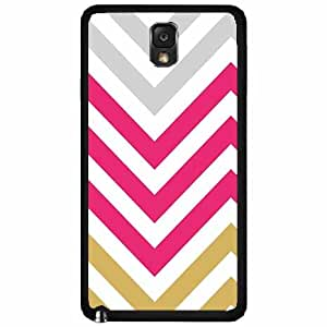 Pink Chevron - Plastic Phone Case Back Cover Samsung Galaxy Note III 3 N9002 includes BleuReign(TM) Cloth and Warranty Label