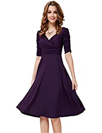 3 4 cocktail dress violet