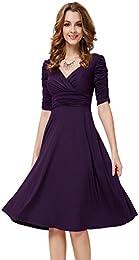 Amazon.com: Purple - Dresses / Clothing: Clothing- Shoes &amp- Jewelry