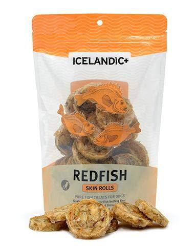 Redfish Net - Icelandic+ Redfish Skin Rolls Dog Treat 3-oz Bag