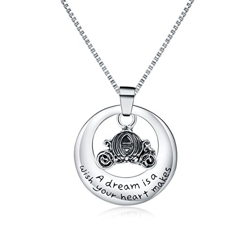 Majesto Inspirational Necklace for Women Teen Girls Fashion Jewelry Pendant - A Dream is a Wish - Prime Gifts