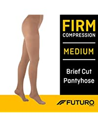 Pantyhose for Women, Firm Compression, Medium, Nude, Helps Relieve Chronic Leg Conditions and Swelling