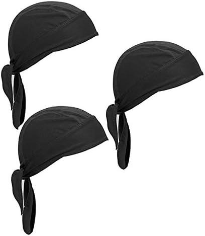 Wisolt Sports Bandana Cap 3er Pack Mütze Mit Schweißableitender Mütze Kopfbedeckung Radfahren Motorradfahren Reiten Atmungsaktiv Bandana Mütze Für Männer Und Frauen Bekleidung
