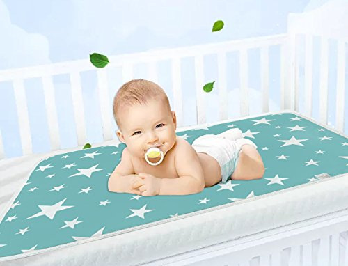 Large Size (23.6''×29.5'') Pure Cotton Waterproof and Breathable Diaper Mat For Babies by UMARDOO