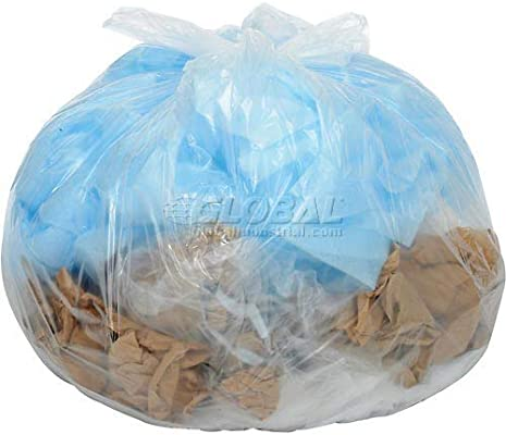 Global Industrial - Bolsas de basura transparentes de 40 a ...