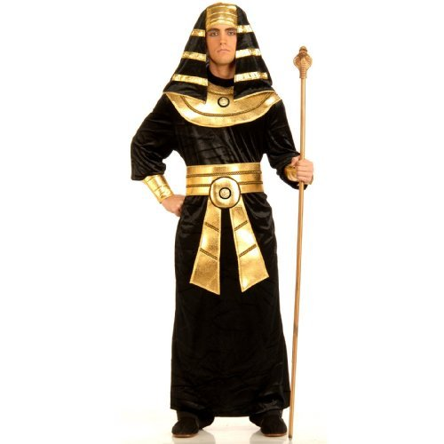 Couples Costumes For Sale (Forum Novelties Men's Pharaoh Costume, Black/Gold, Large)