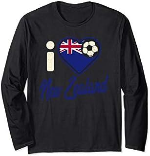 New Zealander Football  New Zealand Football Soccer Long Sleeve T-shirt | Size S - 5XL