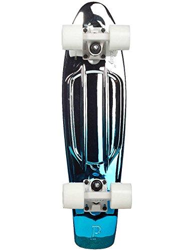 Penny Board 22 Inch Blue Silver Fade Complete