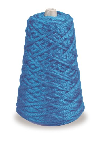 Trait-tex 4-Ply Jumbo Roving Yarn Refill Cone, Blue, 87 (Pacon Acrylic Roving Yarn)