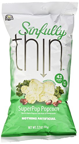 Sinfully Thin Popcorn Superpop Herb and Spice, 2.2 Ounce (Pack of 12)
