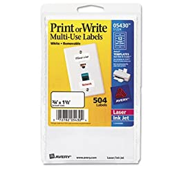 Avery Consumer Products - Removable Multipurpose Label,1-1/2\