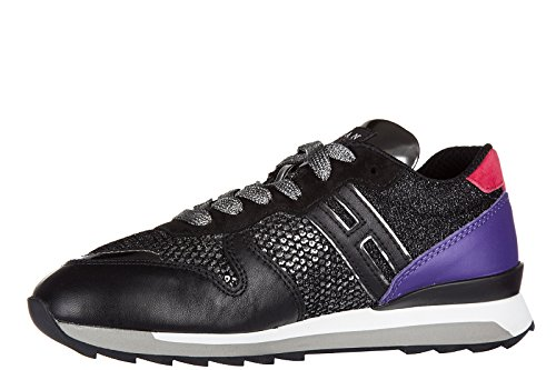 Hogan Rebel Damenschuhe Turnschuhe Damen Leder Schuhe Sneakers r261 allacciato Schwarz EU 40 HXW2610Q901DYT0XL1 uZfENlpX