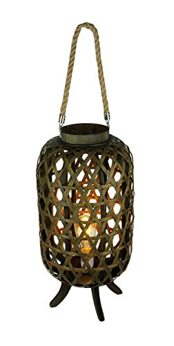 Open Weave Wood Electric Lattice Lantern Lamp - Lattice Table Lantern