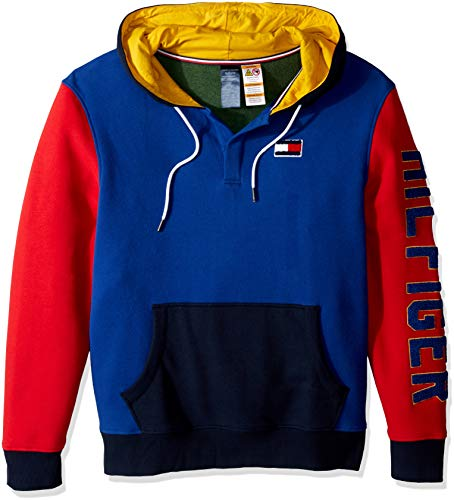46fb79d21109 Tommy Hilfiger Adaptive Men s Hoodie Sweatshirt Popover with Magnetic  Buttons