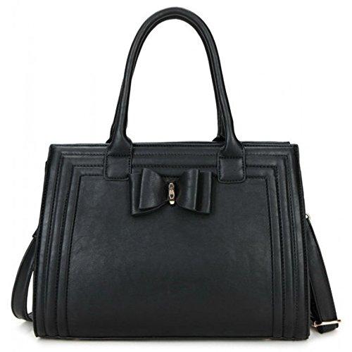 Fashion Strap Bow Black Hot Body Tote New Designer Craze Long Designer Shoulder Bag London Selling Women's Handbag Cross Bag w8FnqtA