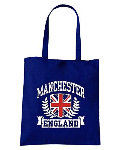 T-Shirtshock - Bolsa para la compra TSTEM0109 manchester england (3) Azul Marino