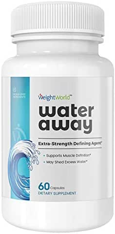 Water Off - Extra Strength Natural Water Pills - Juniper Berries & Dandelion Root Capsules - Water Retention Weight Loss Pills - Vegan-Friendly - 120 Capsules - by WeightWorld