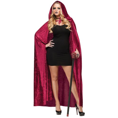Velvet Hooded Cape Costume Accessory