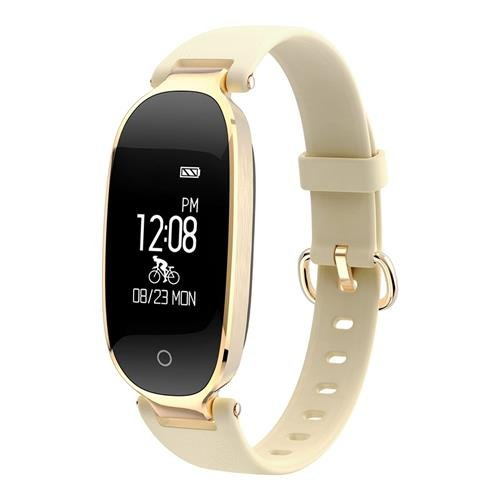 Smart Watch Womens Fitness Tracker with Heart Rate Monitor, Multi-sport Modes and GPS Tracking for Women - Cycling Treadmill Running (Gold) -  Huiers