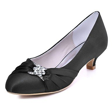 Shoes Stretch Cristal Las Oscuro De Mujeres'S Gatito Azul Oscuro Satén Noche Rubí Otoño Básica EU36 Vestido Parte UK4 Bomba Tacón De Violeta US6 Primavera Negro RTRY Wedding CN36 amp;Amp; De H8wdqHt