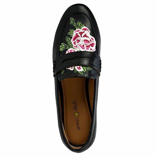 Zeven Wijzerplaten Schoenen Sabrina Dames Loafer, Zwart / Glad, 8h M