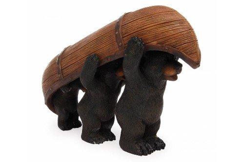 Miniature Fairy Garden Bears Carrying Canoe
