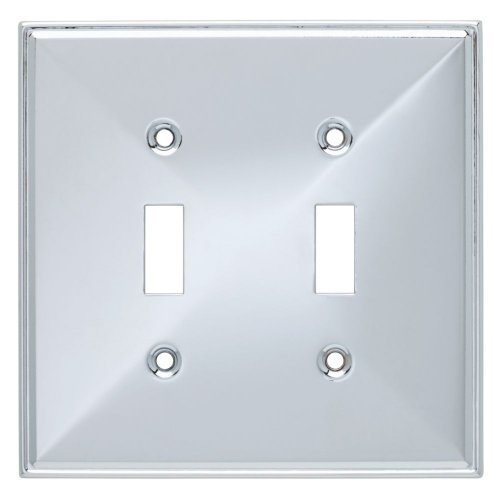 Double Chrome Plate (Franklin Brass 135874 Beverly Double Toggle Switch Wall Plate / Switch Plate / Cover)