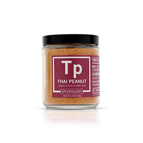 (Thai Peanut - Spiceology Sweet and Spicy Thai Curry Rub - All-Purpose Seasoning - 4.3 ounces)