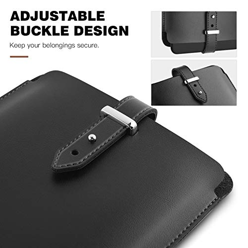 """Dadanism 6"""" Sleeve Case Compatible with All-New Kindle 10th Gen 2019/Kindle Paperwhite 2018, PU Leather Pouch Protective Bag Cover Fits All Kindle Paperwhite/Voyage/Oasis 6""""/8th Gen 2016 - Black"""