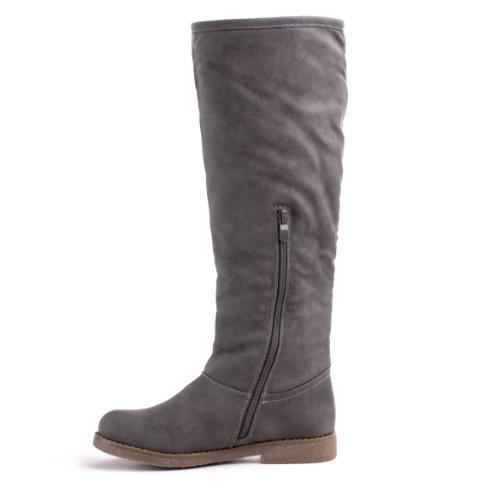Ital-Design - Botas de material sintético para mujer gris - gris