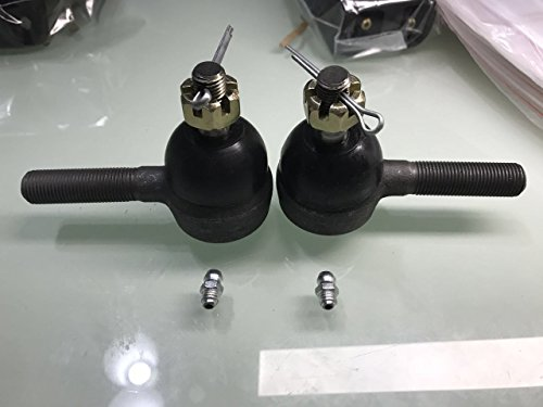 Dr. Accessories Set of Right and Left Thread Tie Rod End with Grease Fitting Fits Club Car 7539,7540olf Cart Years 1974-1976 & Up.
