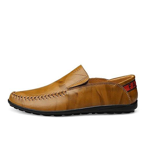 da tempo pelle libero on Mocassini Mocassini Da slip da il shoes Uomo Mocassini Cachi Scarpe guida 45 Color EU 2018 Shufang Dimensione Comfort in per uomo aHPY06W