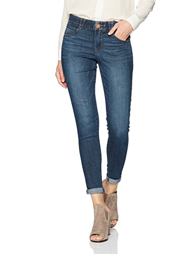 Ankle Skimmer - Democracy Women's Ab Solution Ankle Skimmer Jean, Indigo, 2
