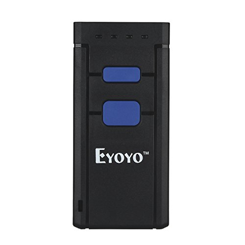 Eyoyo Bluetooth Barcode Scanner Mini Pocket Portable Wireless 1D Bar Code Reader Supports Windows, Android, iOS
