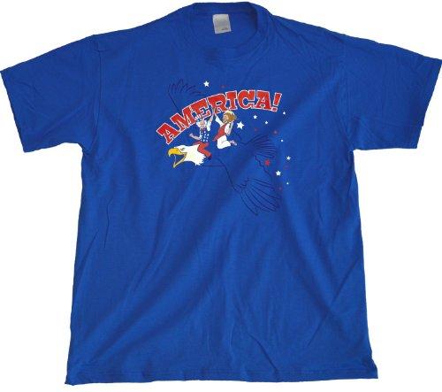 Ann Arbor T-Shirt Co. Men's Jesus + Uncle Sam Riding Eagle T-Shirt
