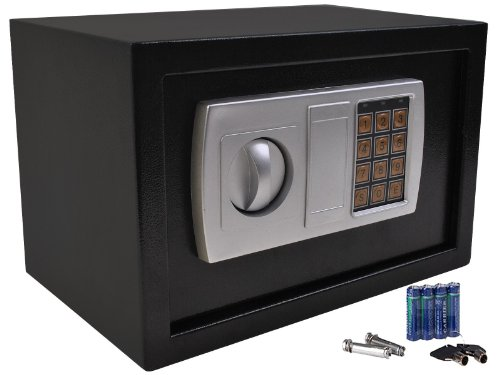details about 12 5 electronic digital lock keypad safe box cash jewelry gun safe black new black. Black Bedroom Furniture Sets. Home Design Ideas