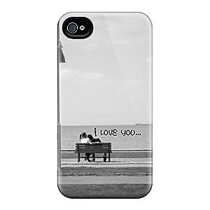 Hot Design Premium CiLJN15778zHalD Tpu Case Cover Iphone 4/4s Protection Case(i Love You)