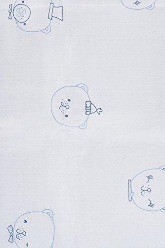 blau 115 x 115 cm Jollein 535-850-65112 Mullwindel 3 pack Funny bear