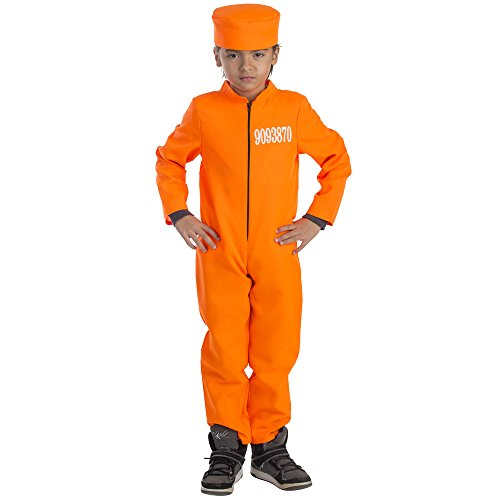 Kid's Prisoner Costume - Size Medium -