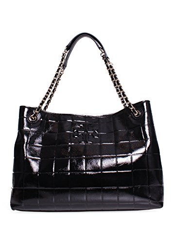 Tory Burch Marion Quilted Patent Leather Tote in ()