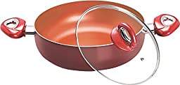 Eris EDF671 Induction Compatible Deep Fry Pan, 9.75-Inch, Copper