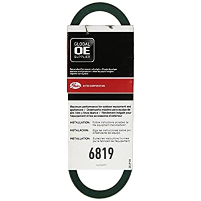 """Gates 6819 PoweRated V-Belt, 4L Section, 1/2"""" Width, 5/16"""" Height, 19.0"""" Belt Outside Circumference: Automotive"""