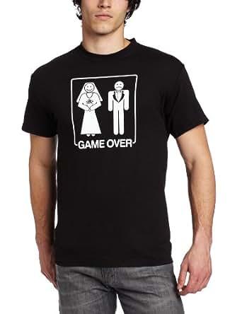 T-Line Men's Humor Game Over T-Shirt, Black, Small