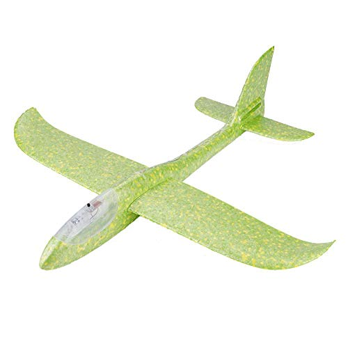 (GLOGLOW Toddler Toys, Foam Throwing Glider Toy Durable Flight Model Glider Aircraft Throwing Free-Flying Fix Wing Hand Launch Airplane Model)